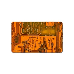 Circuit Board Pattern Magnet (name Card) by BangZart