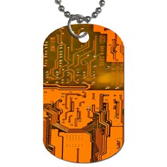 Circuit Board Pattern Dog Tag (two Sides) by BangZart