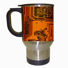 Circuit Board Pattern Travel Mugs (white) by BangZart