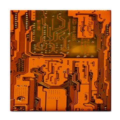Circuit Board Pattern Face Towel by BangZart