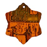 Circuit Board Pattern Ornament (Snowflake) Front