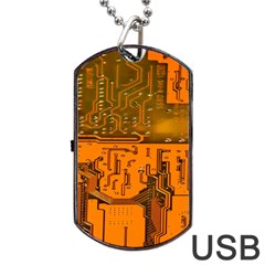 Circuit Board Pattern Dog Tag Usb Flash (two Sides) by BangZart