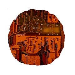 Circuit Board Pattern Standard 15  Premium Round Cushions by BangZart