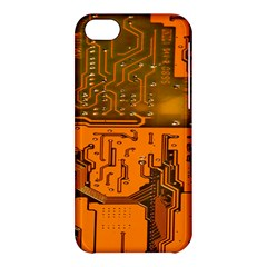 Circuit Board Pattern Apple Iphone 5c Hardshell Case by BangZart