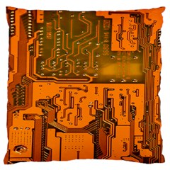 Circuit Board Pattern Large Flano Cushion Case (one Side) by BangZart