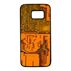 Circuit Board Pattern Samsung Galaxy S7 Black Seamless Case