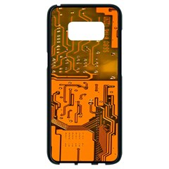 Circuit Board Pattern Samsung Galaxy S8 Black Seamless Case