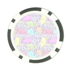 Cat Animal Pet Pattern Poker Chip Card Guard (10 Pack) by BangZart