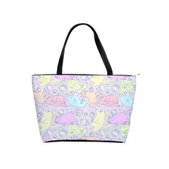 Cat Animal Pet Pattern Shoulder Handbags by BangZart