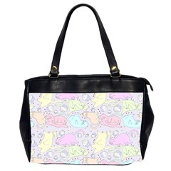 Cat Animal Pet Pattern Office Handbags (2 Sides)  by BangZart