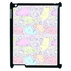 Cat Animal Pet Pattern Apple Ipad 2 Case (black)