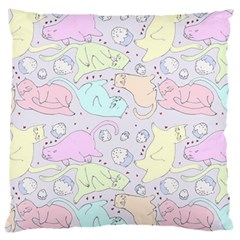 Cat Animal Pet Pattern Large Cushion Case (two Sides) by BangZart