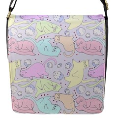 Cat Animal Pet Pattern Flap Messenger Bag (s)