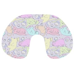 Cat Animal Pet Pattern Travel Neck Pillows by BangZart