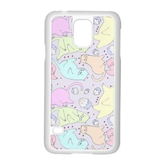 Cat Animal Pet Pattern Samsung Galaxy S5 Case (white) by BangZart