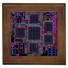 Cad Technology Circuit Board Layout Pattern Framed Tiles by BangZart