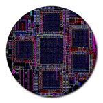 Cad Technology Circuit Board Layout Pattern Round Mousepads Front