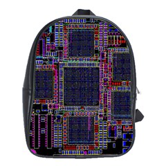 Cad Technology Circuit Board Layout Pattern School Bags(large)  by BangZart