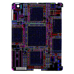 Cad Technology Circuit Board Layout Pattern Apple Ipad 3/4 Hardshell Case (compatible With Smart Cover)