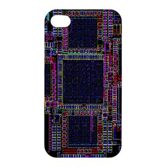 Cad Technology Circuit Board Layout Pattern Apple Iphone 4/4s Premium Hardshell Case by BangZart