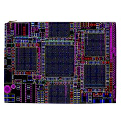 Cad Technology Circuit Board Layout Pattern Cosmetic Bag (xxl)  by BangZart