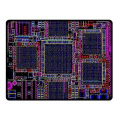 Cad Technology Circuit Board Layout Pattern Double Sided Fleece Blanket (small)  by BangZart