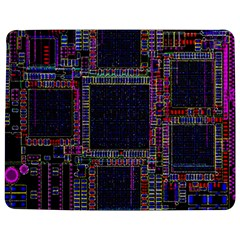 Cad Technology Circuit Board Layout Pattern Jigsaw Puzzle Photo Stand (rectangular)