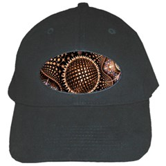 Brown Fractal Balls And Circles Black Cap by BangZart