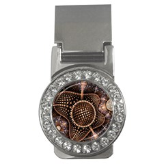 Brown Fractal Balls And Circles Money Clips (cz)  by BangZart