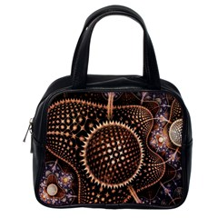 Brown Fractal Balls And Circles Classic Handbags (one Side) by BangZart