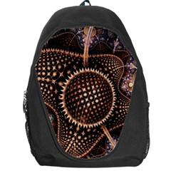 Brown Fractal Balls And Circles Backpack Bag by BangZart