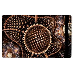 Brown Fractal Balls And Circles Apple Ipad 2 Flip Case by BangZart