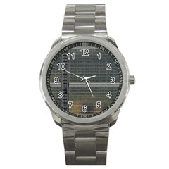 Building Pattern Sport Metal Watch