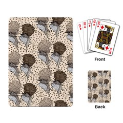 Bouffant Birds Playing Card