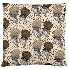 Bouffant Birds Standard Flano Cushion Case (two Sides) by BangZart
