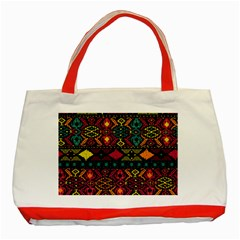 Bohemian Patterns Tribal Classic Tote Bag (red)