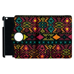 Bohemian Patterns Tribal Apple Ipad 2 Flip 360 Case by BangZart