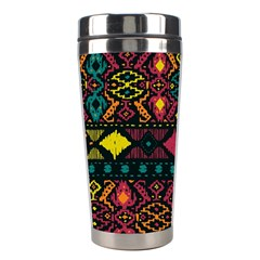 Bohemian Patterns Tribal Stainless Steel Travel Tumblers by BangZart