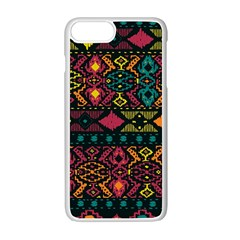 Bohemian Patterns Tribal Apple Iphone 7 Plus White Seamless Case by BangZart