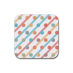 Simple Saturated Pattern Rubber Square Coaster (4 Pack)  by linceazul