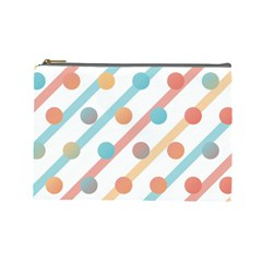 Simple Saturated Pattern Cosmetic Bag (large)  by linceazul