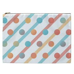 Simple Saturated Pattern Cosmetic Bag (xxl)  by linceazul