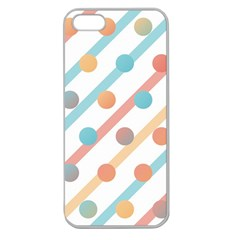 Simple Saturated Pattern Apple Seamless Iphone 5 Case (clear) by linceazul