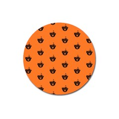 Funny Halloween   Burned Skull Pattern Magnet 3  (round) by MoreColorsinLife