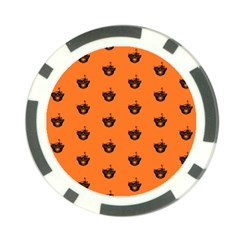 Funny Halloween   Burned Skull Pattern Poker Chip Card Guard by MoreColorsinLife