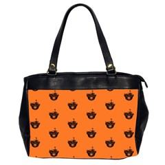 Funny Halloween   Burned Skull Pattern Office Handbags (2 Sides)  by MoreColorsinLife
