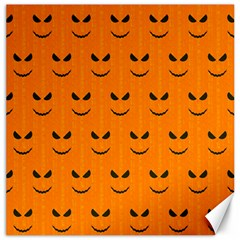 Funny Halloween   Face Pattern Canvas 16  X 16   by MoreColorsinLife
