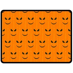 Funny Halloween   Face Pattern Fleece Blanket (large)  by MoreColorsinLife