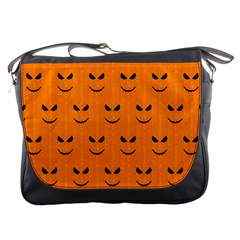 Funny Halloween   Face Pattern Messenger Bags by MoreColorsinLife
