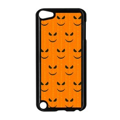 Funny Halloween   Face Pattern Apple Ipod Touch 5 Case (black) by MoreColorsinLife